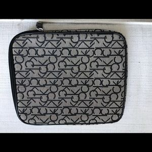 Calvin Klein iPad zippered cover case. NWOT